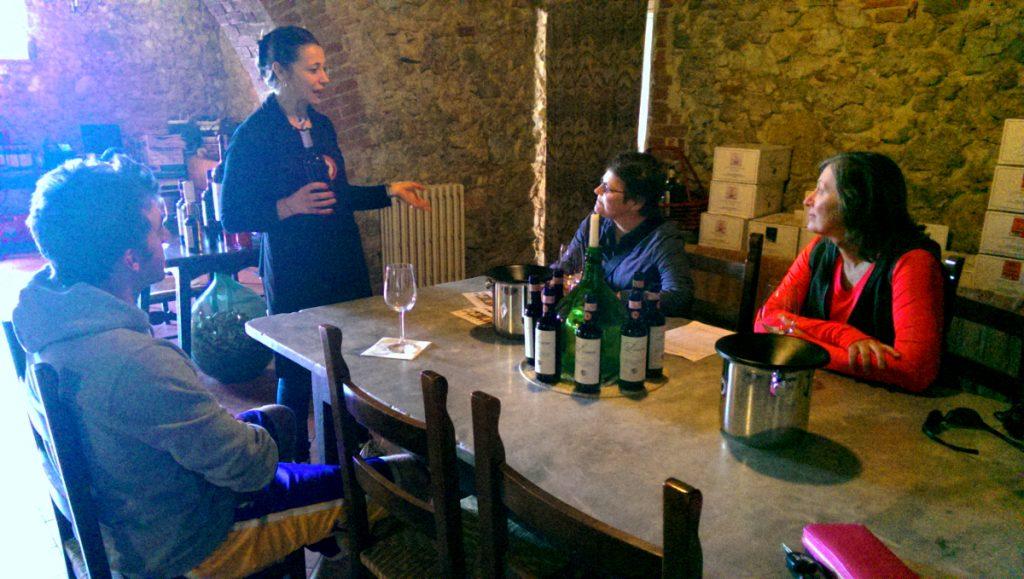 Chianti wine tasting