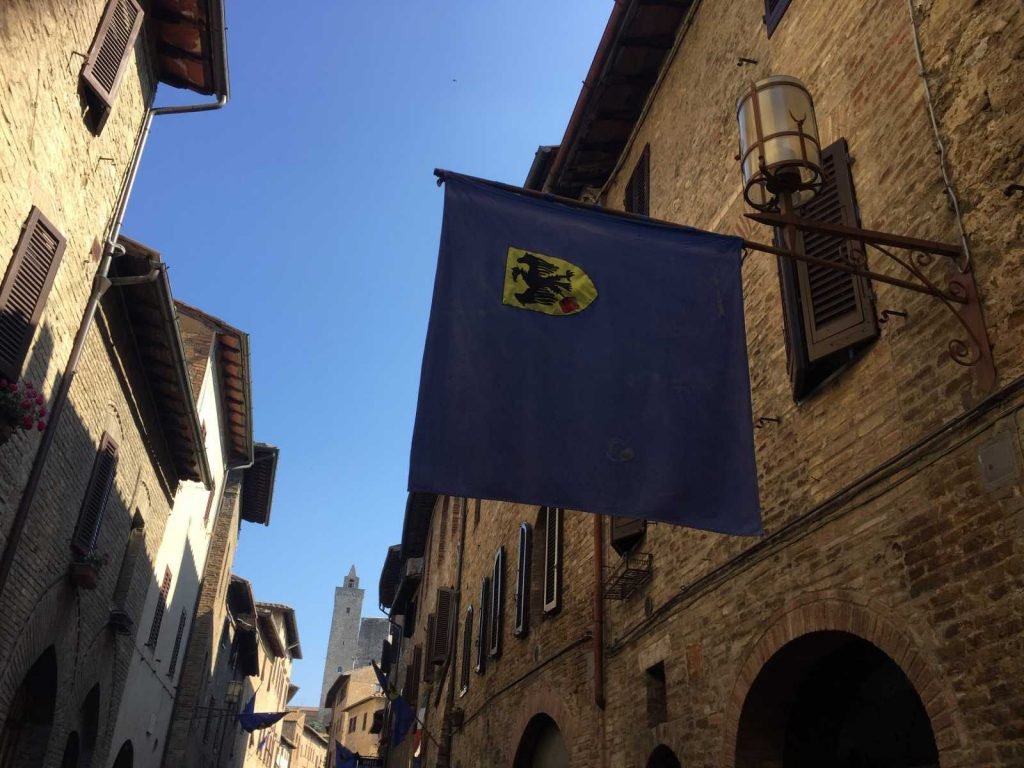 The streets of San Gimignano with Bike Florence & Tuscany