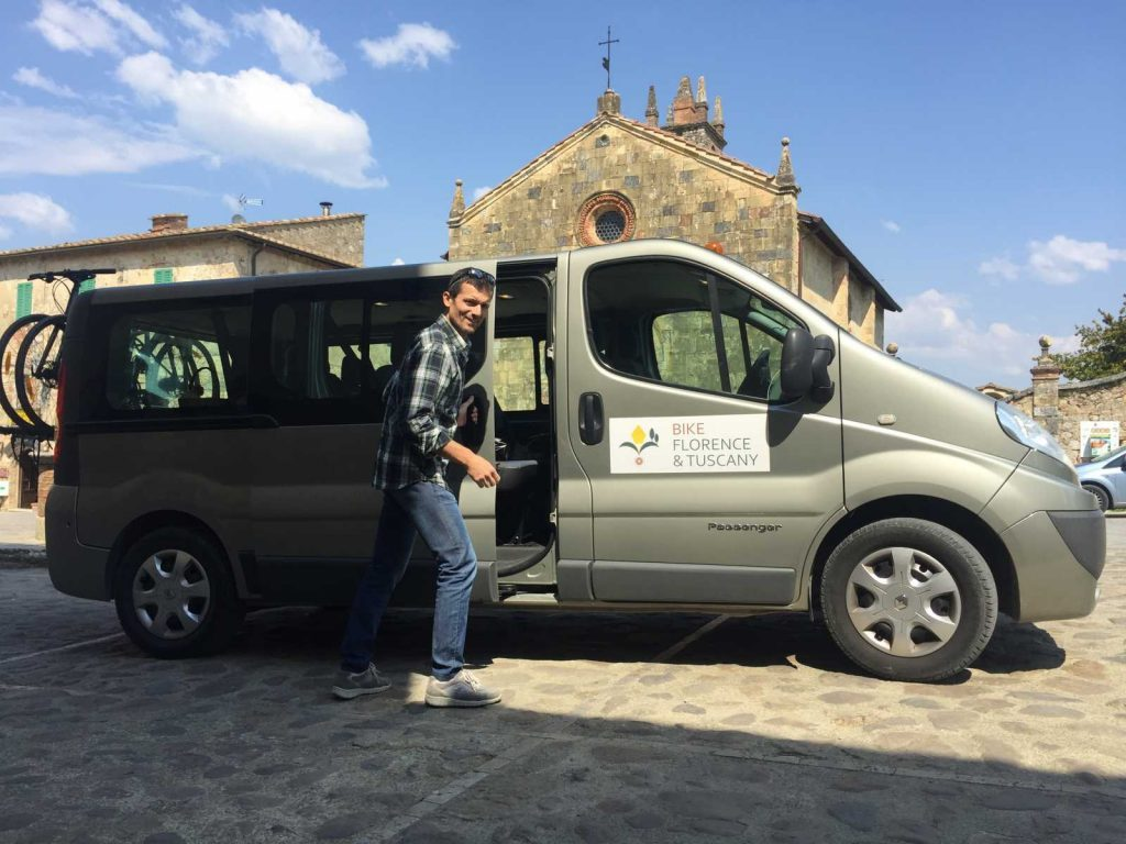 Bike Florence & Tuscany: Support Van on our One Day Bike Tour
