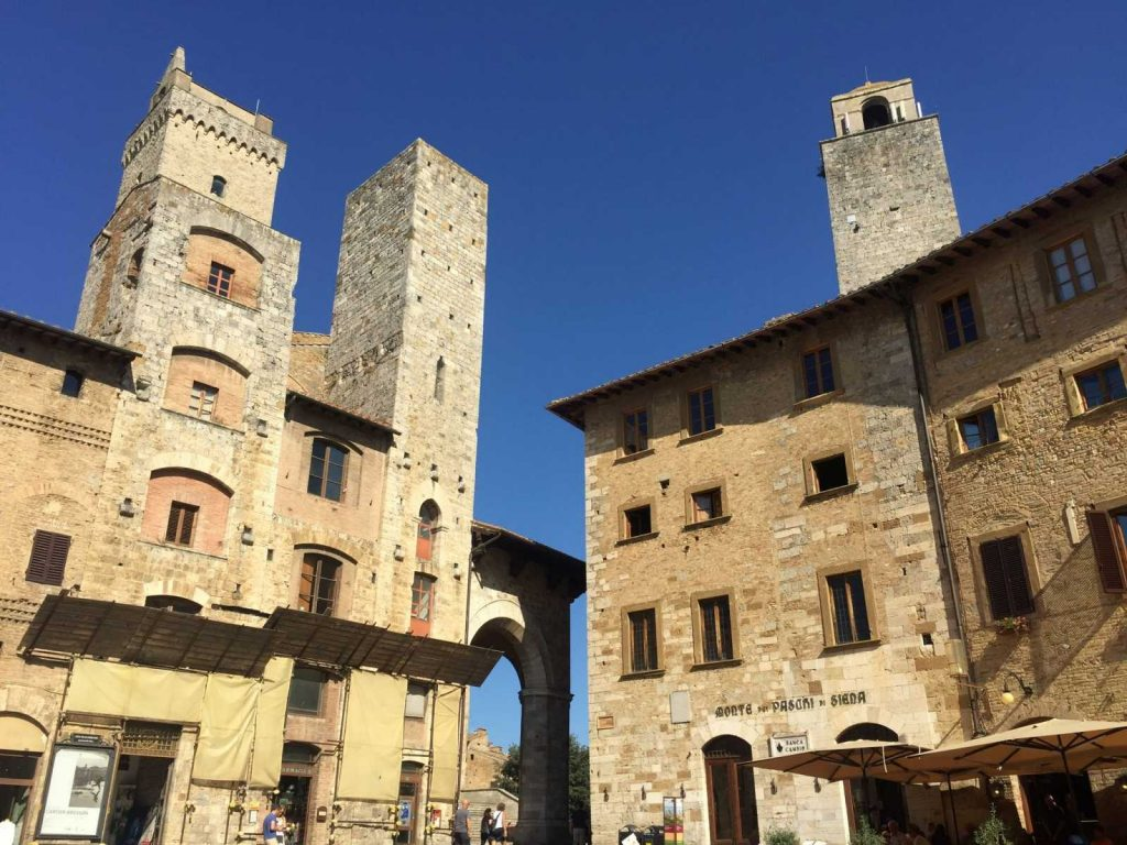 The towers of San Gimignano with Bike Florence & Tuscany