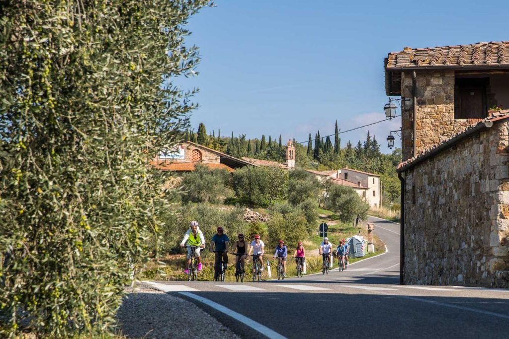 Family Biking Tour thru the vineyards: Bike Florence & Tuscany
