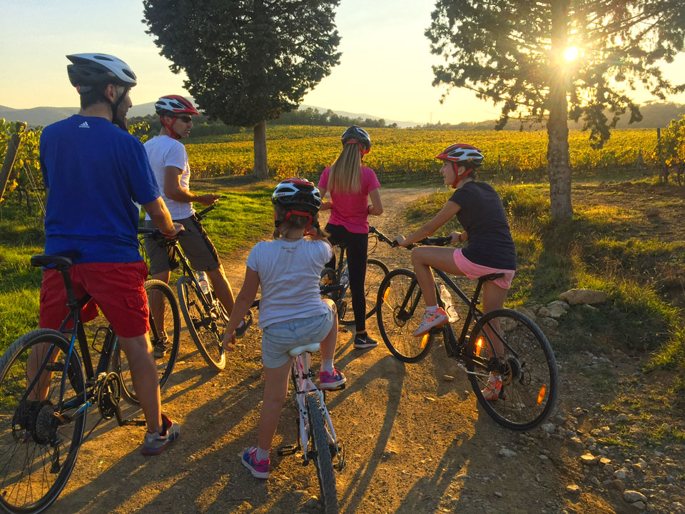 Tuscany Family Bike Tours Teens Younger Siblings