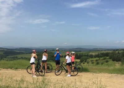 Florence to Siena one-day tour Crossing Chianti to Siena - View on hills | bikeinflorence.com