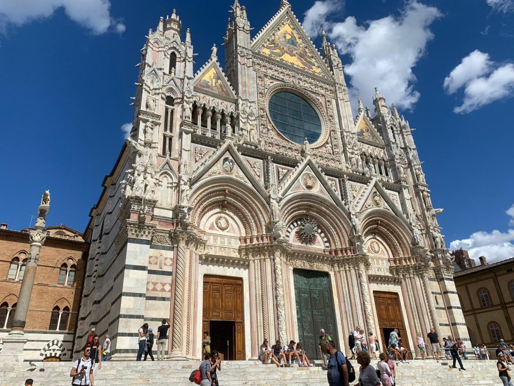 Siena Duomo as seen on the Crossing Chianti to Siena bike tour with Bike Florence & Tuscany